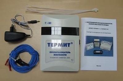 Комплект поставки прибора защиты от накипи Термит