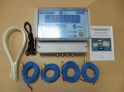 Комплект поставки прибора защиты от накипи Термит-М